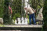 Pomologie und Volkspark Schachspieler