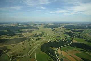 Ehemaliger Truppenübungsplatz Münsingen: Luftbild