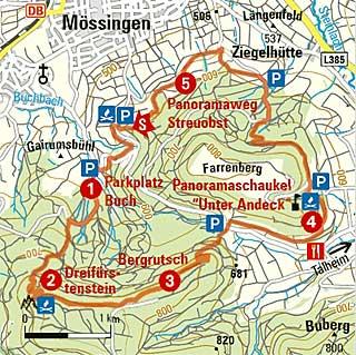 Dreifuerstensteig_Strecke