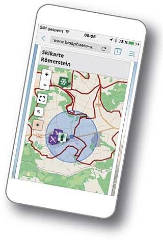 Loipenkarte aufs Smartphone